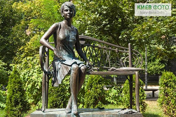 Olena Teliha-Denkmal in Kiew, Hauptstadt der Ukraine.